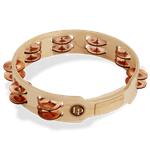 "Latin Percussion 10"" Double Row Copper Jingles Wood Tambourine; LP382-C"