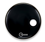 Aquarian Regulator Off-Set Hole Gloss Black Bass Drum Head