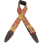 Levy's Leather Jaquard Guitar Strap; MGHJ2