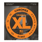 D'Addario ECB82 Chromes Flat Wound Bass Guitar String Set Long Scale 50-105