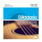 D'Addario EJ38 12-String Phosphor Bronze Light Acoustic Guitar String Set