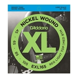 D'Addario EXL165 XL 45-105 Long Scale 4-String Electric Bass String Set
