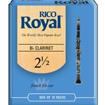 Rico Royal RCB1025 Bb Clarinet #21/2 Reeds Box of 10