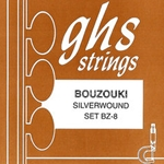 GHS BZ8 Bouzouki Loop End Silverwound String Set