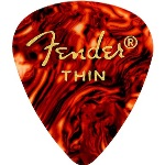 Fender 351 Shape Thin Classic Celluloid Pick -12 Pack-