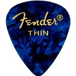 Fender 351 Shape Thin Blue Moto Celluloid Pick -12 Pack-