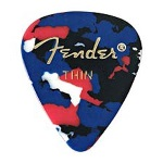 Fender 351 Shape Thin Confetti Celluloid Pick -12 Pack-