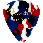 Fender 351 Shape Heavy Confetti Celluloid Pick -12 Pack-