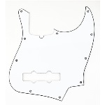 Fender Jazz Bass Pickguard 10-Hole Contemporary White