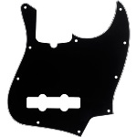 Fender Jazz Bass Pickguard 10-Hole Contemporary, Black