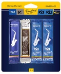 Vandoren Alto Saxophone 4 Reed Mix Card