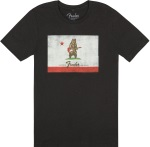 Fender Bear Flag T-Shirt; 9113013506