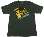 Fender Original Tele Green T-Shirt; 9111001546