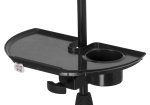 Gator Mic Stand Accessory Tray with Drink Holder; GFW-MICACCTRAY