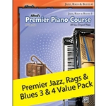 Alfred AL00106362 Premier Piano Course Jazz, Rags, and Blues Books 3 and 4