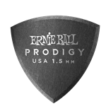 Ernie Ball 1.5mm Black Shield Prodigy Picks 6-pack