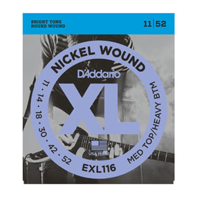D'Addario EXL116 Nickel Wound Medium Top/Heavy Bottom Electric Guitar String Set