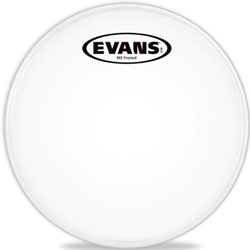 "Evans TT12MXF 12"" MX Marching Tenor Frosted Drum Head"