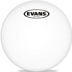 "Evans TT13MXF 13"" MX Marching Tenor Frosted Drum Head"
