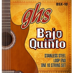 GHS BSX10 Bajo Quinto String Set
