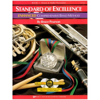 Drums and Mallet Percussion Standard of Excellence Enhanced Version Book 1