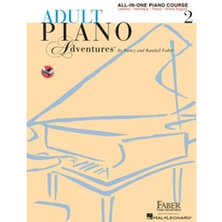 Faber Adult Piano Adventures All-In-One Lesson Book 2; FF1334