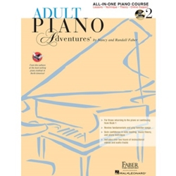 Faber Adult Piano Adventures All-In-One Lesson Book 2 with CD; FF1334CD