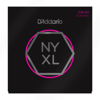 D'Addario NYXL0942 Nickel Wound Super Light Electric Guitar String Set