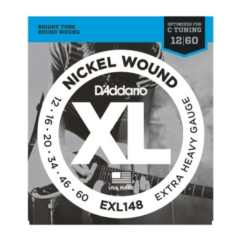 D'Addario Nickel Wound Extra Heavy Electric Guitar String Set