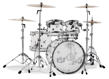 Drum Workshop Design Series Acrylic 5-Piece Shell Kit (DDAC2215CL)
