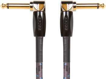 Boss BIC-1AA 1 foot Instrument Cable; Angled to Angled Plug
