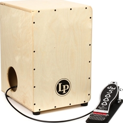 Latin Percussion 2-Sided Cajon with Internal DW Cajon Pedal