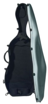 Fiberglass 4/4 Cello Case; Graphite