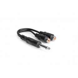"Hosa YPR103 1/4"" Male to Dual Female RCA Y-Adaptor"