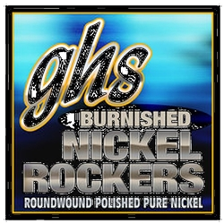 GHS BNRM Burnished Nickel Rockers Medium  Guage Electric Guitar Strings