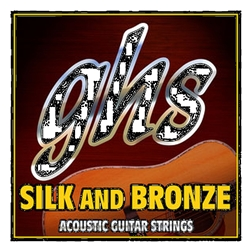 GHS 370 Silk and Bronze Acoustic Guitar String Set