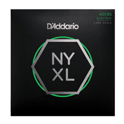 D'Addario NYXL4095 Bass Guitar String Set, Long Scale, Super Light 40-95