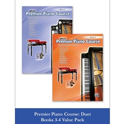 Alfred Premier Piano Course Duet Level 3 and 4 Value Pack; AL00106699