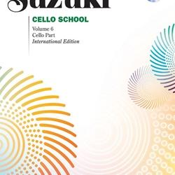 Suzuki Cello School, Cello Part Book and CD Volume 6
